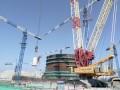 华龙一号示范工程福核6号机组硼注箱吊装就位